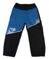 Zateplené šusťákové kalhoty KUGO  - malé - tm.modro-černé