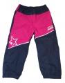 Zateplené šusťákové kalhoty KUGO  - malé - růžovo-modré