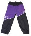 Zateplené šusťákové kalhoty KUGO  - malé - fialovo-šedé