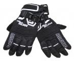 Dětské zimní, lyžařské rukavice - prstové - černo-bílé