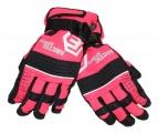 Dětské zimní, lyžařské rukavice - prstové - oranžovo(neon)-černé