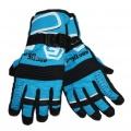 Dětské zimní, lyžařské rukavice - prstové - modro-černé