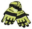Dětské zimní, lyžařské rukavice - prstové - zeleno-černé