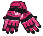 Dětské zimní, lyžařské rukavice - prstové - růžovo-černé