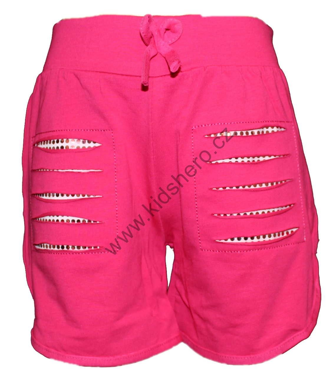 dívčí kraťasy bavlněné kraťasy dětské šortky