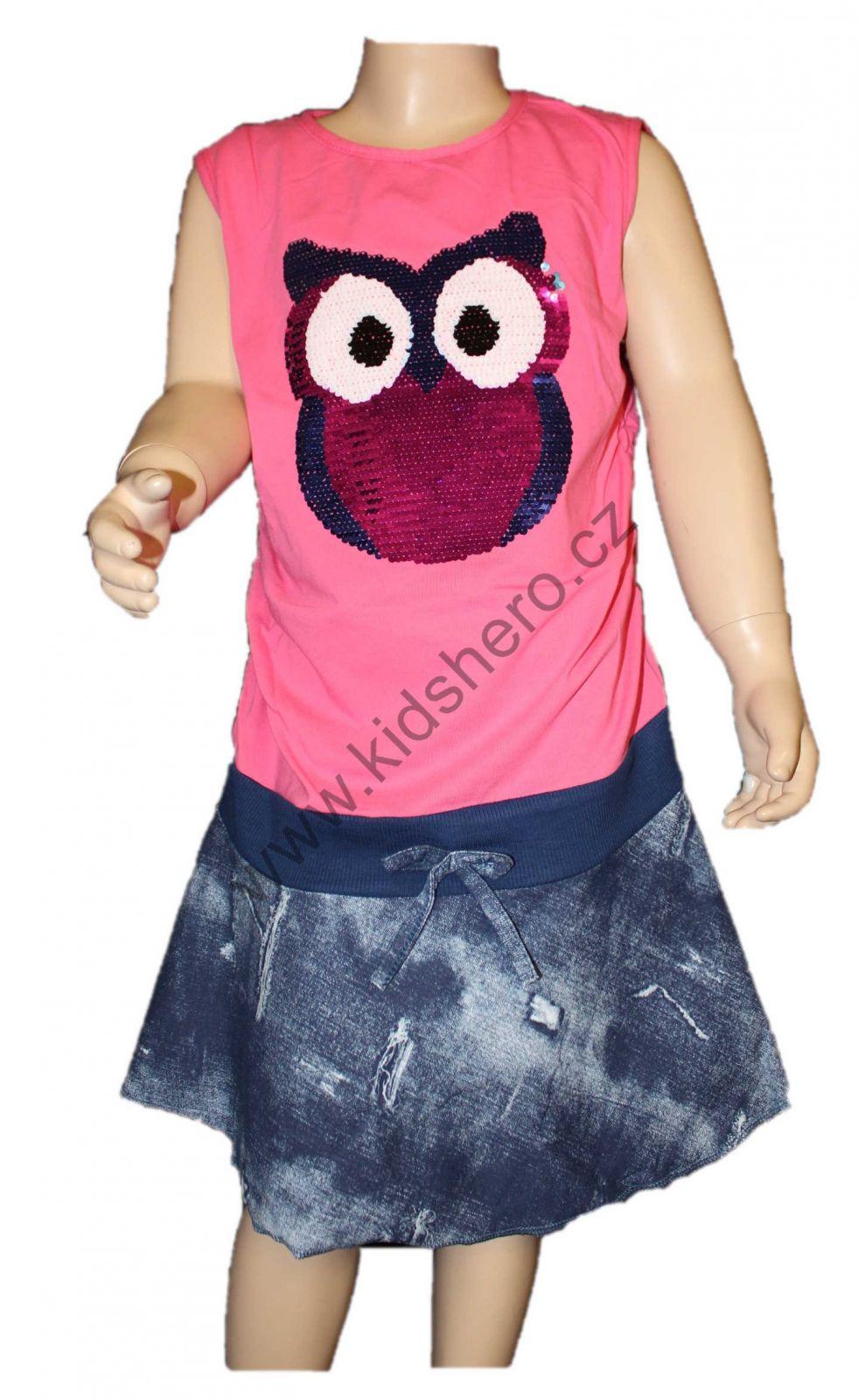 Dětské měnící šaty s flitry