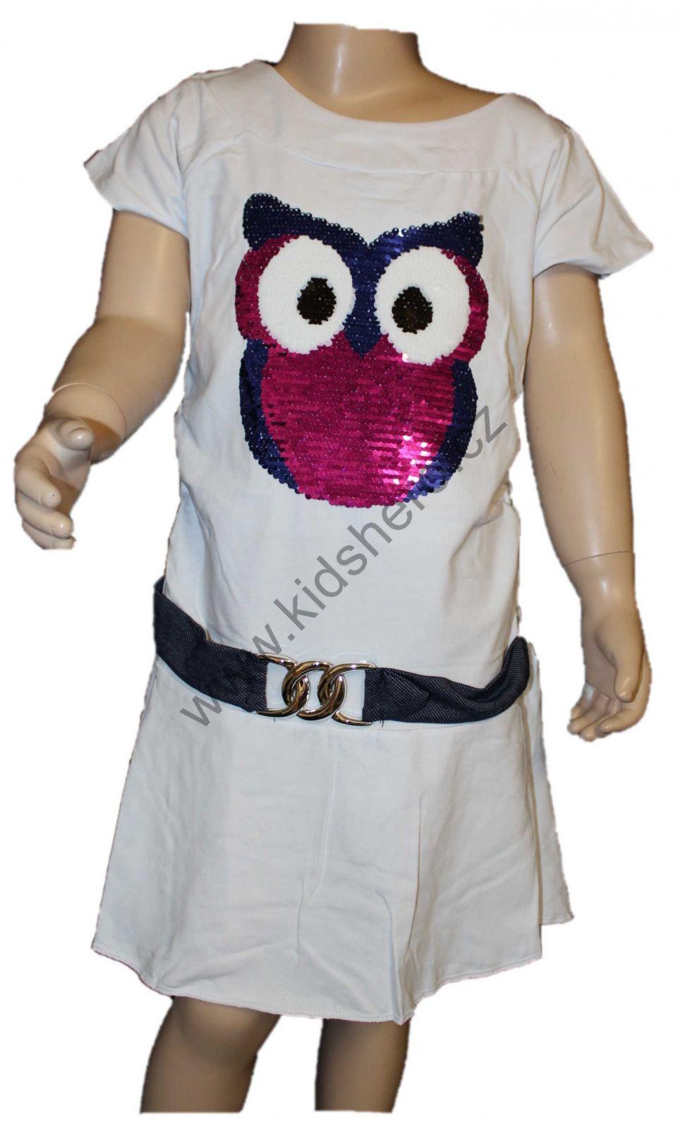 dětské měnící šaty, šaty s flitry, přeměňovací šaty
