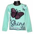 Měnící tričko dl.rukáv - teplejší - zelené - motýl - velké