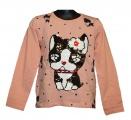 Měnící tričko, tunika dl.rukáv - lososové -pes