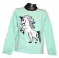 Měnící tričko, tunika dl.rukáv - zelené - kůň - malé