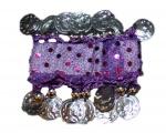 Náramky ke kostýmu na břišní tance - fialové