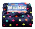 Šátek, nákrčník - teplý - fialový - puntík