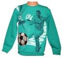 Měnící tričko, triko - dl.rukáv- míč-Cristiano Ronaldo - zelené-malé