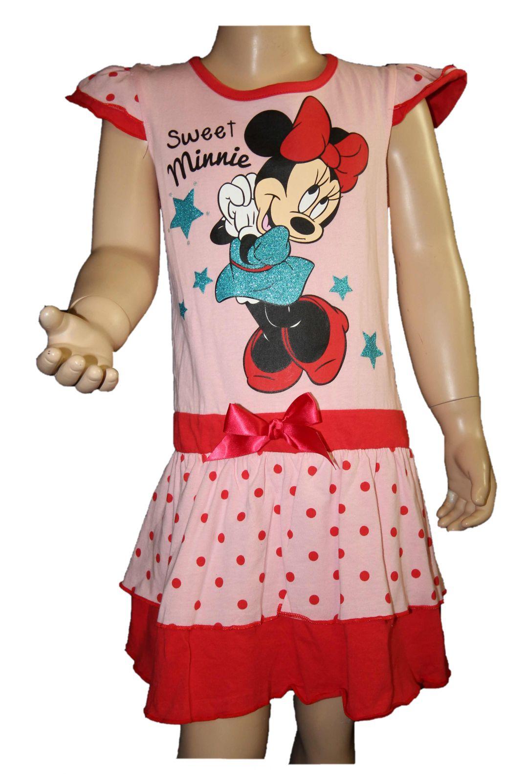 Bavlněné šaty Minnie dívčí šaty disney