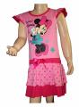Bavlněné šaty s Minnie - růžové puntík
