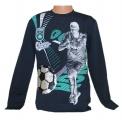 Měnící tričko, triko - dl.rukáv- míč-Cristiano Ronaldo - tm.modré - malé