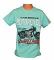 Chlapecké tričko s motorkou - zelené