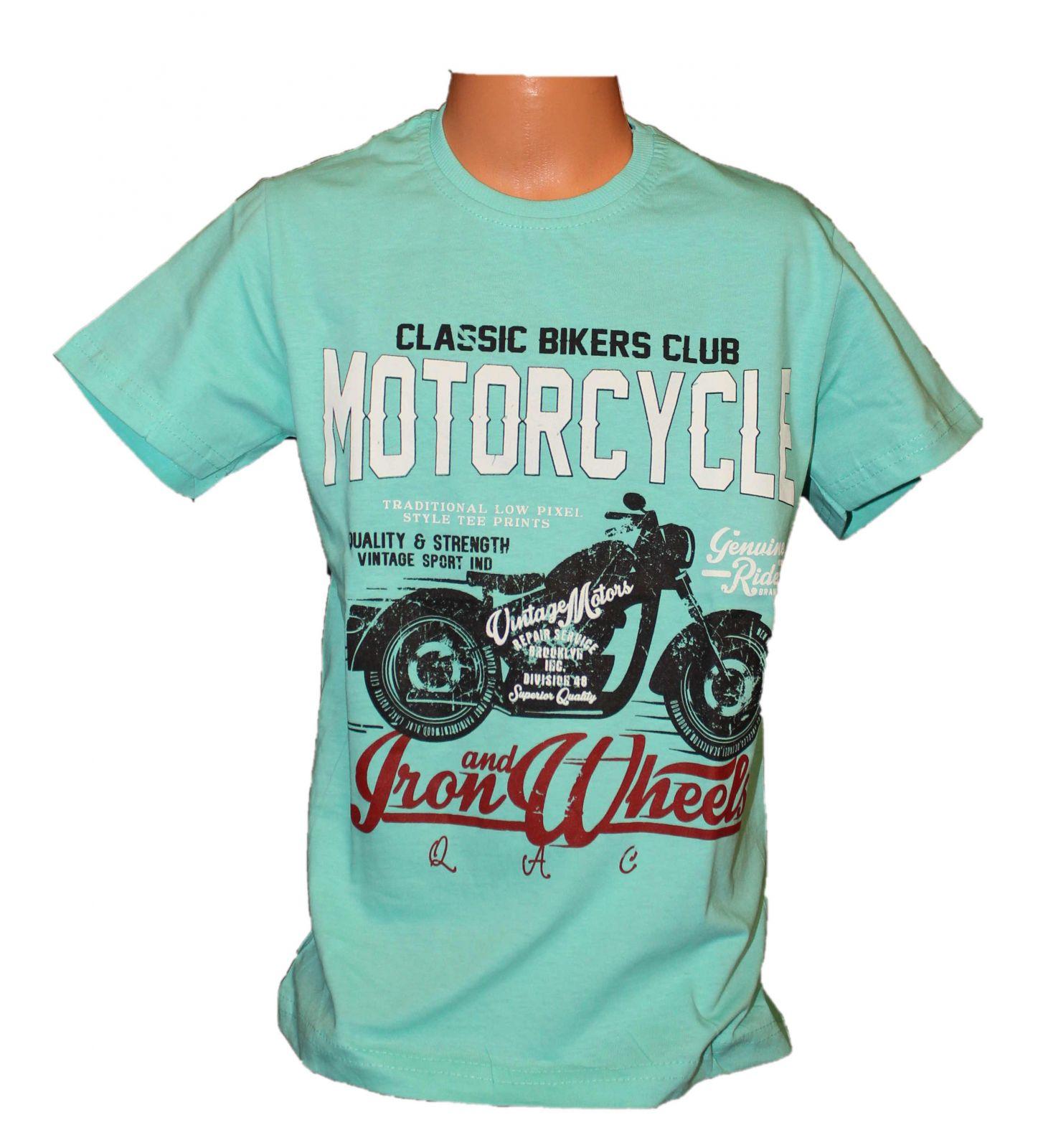 Chlapecké tričko s motorkou bavlněné tričko motorka chlapecké triko dětské tričko s motorkou