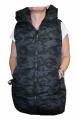 Dámská prošívaná vesta - prodloužená - maskáčová