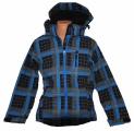 Softshellová bunda Fashion - zateplená - modro-černá - kostka