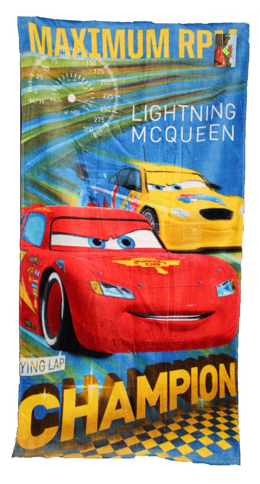 Dětská osuška Cars chlapecká osuška s auty Disney
