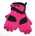 Dětské lyžařské rukavice ECHT - růžovo-černé