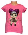 Měnící tričko, tunika kr.rukáv -  s holčičkou - růžové