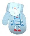 Rukavice palčáky  se šňůrkou - sv.modré - robot