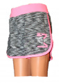 Dívčí sportovní kraťasy - KUGO - růžovo-šedé