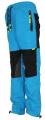 Zateplené kalhoty SEZON - modro-černé se zelenými prvky