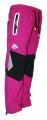 Zateplené kalhoty SEZON - růžovo-černé se zelenými prvky  sova