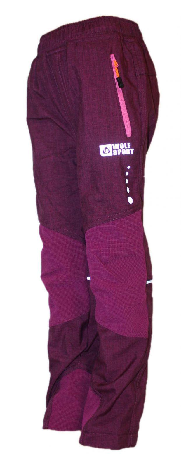 Dětské zateplené softshellové kalhoty WOLF, podzimní kalhoty, zimní kalhoty