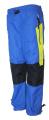 Zateplené šusťákové kalhoty KUGO  - modro-černé se žlutými prvky