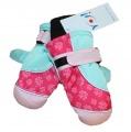 Dětské zimní rukavice - palčáky- růžovo-zelené