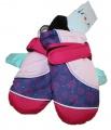 Dětské zimní rukavice - palčáky- růžovo-fialové