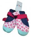 Dětské zimní rukavice - palčáky- růžovo-modré