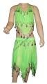 Kostým břišní tanečnice hladký - zelený