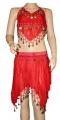 Kostým břišní tanečnice hladký - červený
