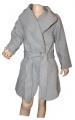 Dívčí fleesový kabát - šedý