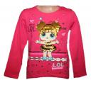 Měnící tričko, tunika dl.rukáv - LOL - tm.růžové