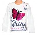 Měnící tričko dl.rukáv - teplejší - bílé - motýl - velké