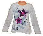 Měnící tričko dl.rukáv - teplejší - hvězdy - šedé