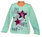 Měnící tričko dl.rukáv - teplejší - hvězdy - zelené