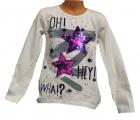 Měnící tričko dl.rukáv - teplejší - hvězdy - bílé