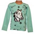 Měnící tričko, tunika dl.rukáv - zelené - malé