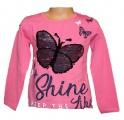 Měnící tričko - motýl - malé -  sv.růžové