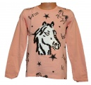 Měnící tričko, tunika dl.rukáv - lososové - malé