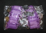 Náramky ke kostýmu na břišní tance - fialové - hladké