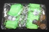 Náramky ke kostýmu na břišní tance - zelené-hladké