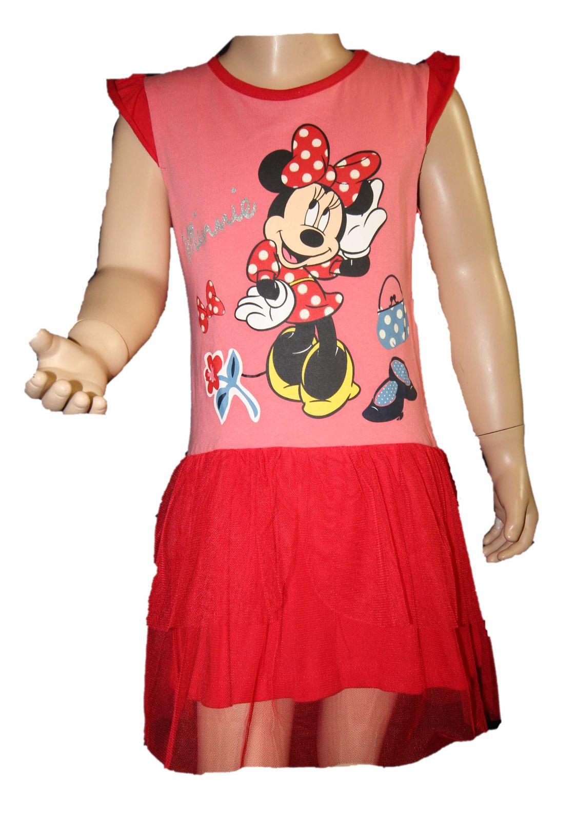 20cdfdf92168 Šaty s tylovou sukní MINNIE letní šaty Disney dívčí šaty Minnie